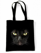 Black Cat Halloween Tote Sholder Bag
