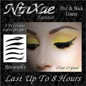 NINXAE EYEWHERE - PEEL & STICK CLEAR CRYSTAL EYELINERS. 5 STYLES PER PACK