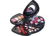 Pretty Pink Heart Shaped Cosmetic Box and Make-Up Set.
