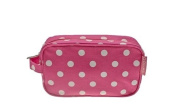 Pink DOTTY Make Up Cosmetic Bag or Pencil Case