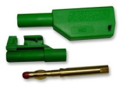 Cutting-Edge PIKE & CO ELECTRONICS - 20277-6 - 4mm STACKABLE PLUG - GREEN - Pack of 2 - Min 3yr Cleva Warranty