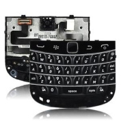BLACK REPLACEMENT QWERTY KEYPAD KEYBOARD TRACKPAD FLEX FOR BLACKBERRY 9900 9930 BOLD