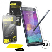 Casebase Premium Tempered Glass Screen Protector TWIN PACK for Samsung Galaxy Note 4