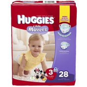 Huggies Little Movers Nappies, Size 3, 28 Count