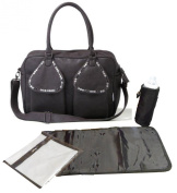 Tribal Baby Deluxe Baby Changing Bag - Original Saffier Antracite - Stud Design Dark Brown- Top Quality Faux Leather