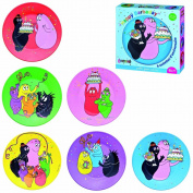 Barbapapa BA965F 6 Plates in Gift Set Assorted Happy Barbaday