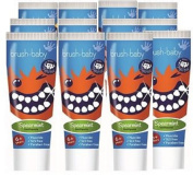 Brush Baby Childrens Spearmint Toothpaste - value pack of 12 tubes