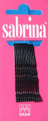 Sabrina Ball Pointed Hair Grips, Waved Black 48 mm - Box of 72 Cards