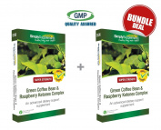 Green Coffee Bean and Raspberry Ketones Complex Bundle Deal 120 Capsules in total