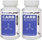 CARB Blocker METACARB Duo Pack | High Strength Formulation with White Kidney Bean Extract | 180 Capsules | Innopure®