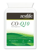 Zestlife Co-Enzyme Q10 (COQ10) 300mg 60 soft gels A boost for the immune system, may be healthy for your heart, heart rhythm.