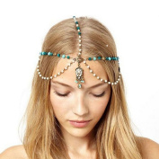 Ukamshop Fashionable Women Head Band Headband Hair Chain Vintage Gold Tone Party Headpiece
