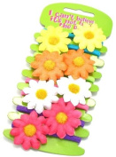 8 Beautiful Daisy Flower Elastics Hair Accessories