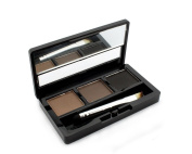 3 Colours Eyebrow Powder Palette Eye Brow with Brush & Mirror Makeup set kit