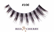 Red Cherry 100% Human Hair Eyelashes #106