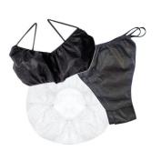 Tanning essentials Disposable Mini Starter pack - 10 Hair Caps & Black G-Strings, 5 Black Bras
