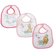 Baby Animal Design Meal Time Bibs (Pack of 3) (One Size)