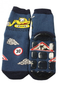 Weri Spezials Baby-Boys Terry ABS Bulldozer Slippers Anti Non Slip Socks