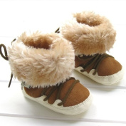 Brown Snow Boots Fur Unisex Soft Toddler Baby Infants Shoes