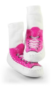 Mocc Ons By Sock Ons PINK Sneaker size 12-18 Months - NEW DESIGN!