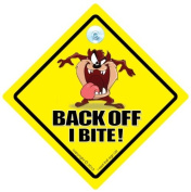 Back Off I Bite Car Sign, Car Sign, Baby On Board, Novelty Car Sign, Tailgating, Back Off