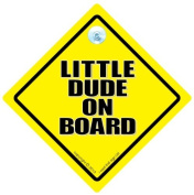 Little Dude On Board Car Sign, Baby On Board Car Sign, Little Dude Car Sign, Little Dude Sign, Baby on Board Sign, Funny Car Sign, Baby Car Sign, Bumper Sticker, Decal, Baby on Board