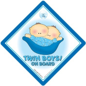 Twin Boys On Board, Car Sign, Blue Peapod, Twins On Board, Twins Car Sign, Baby on Board Sign, Baby on Board, Decal, Bumper Sticker, Baby Car Sign, Baby Sign, Twins On Board Sign
