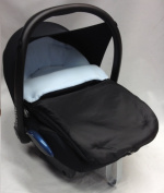 Universal Car Seat Footmuff To Fit Maxi Cosi Cabrio Light Blue
