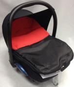 Universal Car Seat Footmuff To Fit Maxi Cosi Cabrio Red