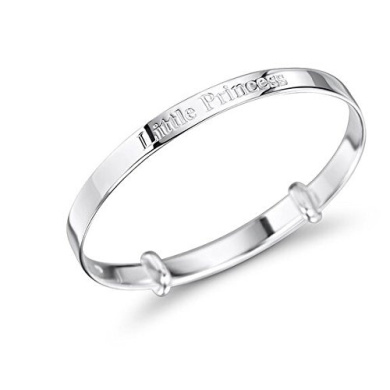Sterling Silver Little Princess Baby Bangle