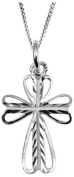Sterling silver decorative cross. Perfect gift for a new baby or to celebrate a Christening, Baptism or Confirmation.