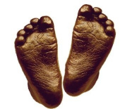 Basic 3D Handprint Footprint Baby Casting Kit Materials with Metallic Bronze paint by BabyRice