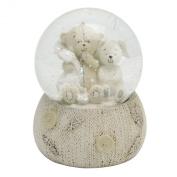 Button Corner Teddy Resin Snow Globe in Gift Box