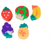 Homgaty 50pcs Lovely Environment-Friendly Mini Fruit-Shaped Colourful Erasers