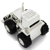 Personalised Digger Tractor Money Box Engraved Gift