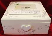 Shabby Chic Baby Memories Keepsake Box with Photo holder