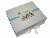 White Cotton Cards Christening A4 Toys Range Keepsake Box