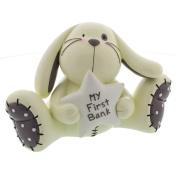 Baby Gift Resin Rabbit Money Box - My First Bank