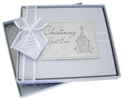 White Cotton Cards Christening Church Guest Book
