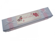 White Cotton Cards Baby's Birth certificate Holder