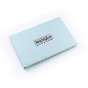 A . pocket-sized photo album for 'Baby's Scan Photos' in soft blue