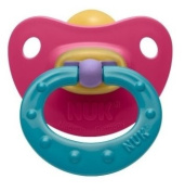 2 NUK Classic Soft Latex BPA Free Soother Pacifier Size 3, 18-36m Girl
