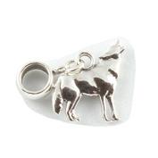 Sterling Silver Howling Wolf Dangle Bead /Charm To Fit Pandora Troll Chamilia Biagi European Charm Bracelets
