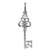 TheCharmWorks Sterling Silver 21st Birthday Key Charm