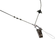 ShoreThing UK Angel,Star Silver Beaded Bead Lanyard Pretty many uses : 70cm - 80cm. Silver/Black