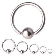 BCR Titanium Piercing, Ball Closure Ring, Thickness 1,2 mm | Diameter 7 - 11 mm