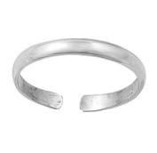 Sterling Silver Toe Ring - 2mm
