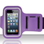 Urban Runner iPhone 5, 5s, 5c Purple Sports Armband Premium Quality ideal for Jogging, Running, Gym, Cycling, Hiking - Strong Waterproof Cover