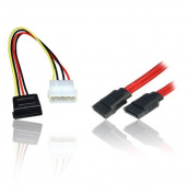 SATA Serial ATA Data & Power HDD Hard Disc Drive Cable Lead Wire Combo/Twin Pack