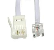 3m 3 metre BT Telecom - RJ11 4 Pin Telephone Phone Modem Cross Wired Cable